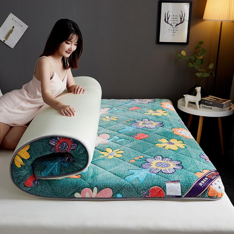 秋冬法兰绒床垫家用睡垫加厚软垫宿舍学生单人双人1.8米床褥垫