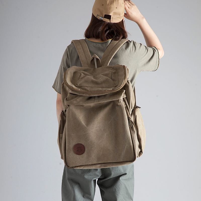 Backpack mens and womens Retro leisure travel bag mountaineering bag large capacity travel canvas bag backpack mens and womens bags