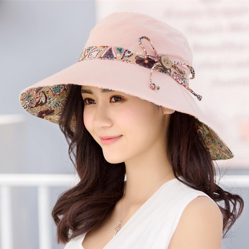 中國代購|中國批發-ibuy99|女士帽子|2021年夏季女士太阳帽防晒出游遮阳可折叠帽子夏天韩版潮沙滩百搭