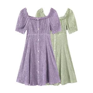 领5元券购买慕乐町甜美2020新款夏季方领连衣裙