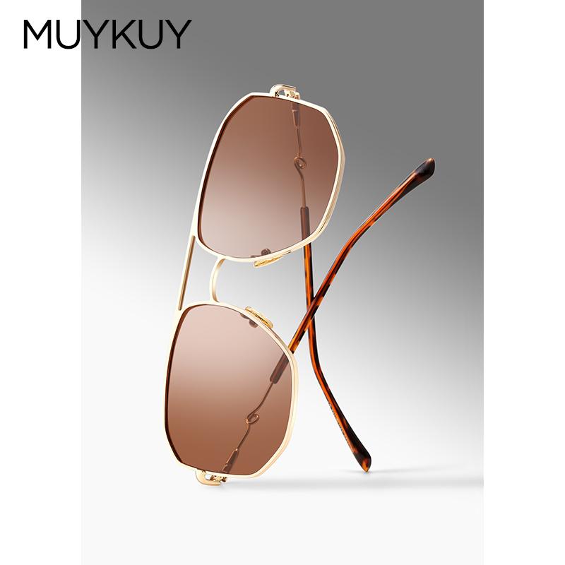 muykuy木喾欧美潮流大框方形蛤蟆镜使用评测