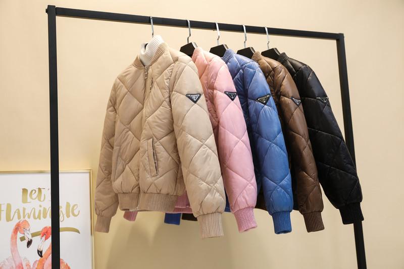 BXLR602#面包服女冬季韩版立领百搭宽松短款加厚棉服学生外套女