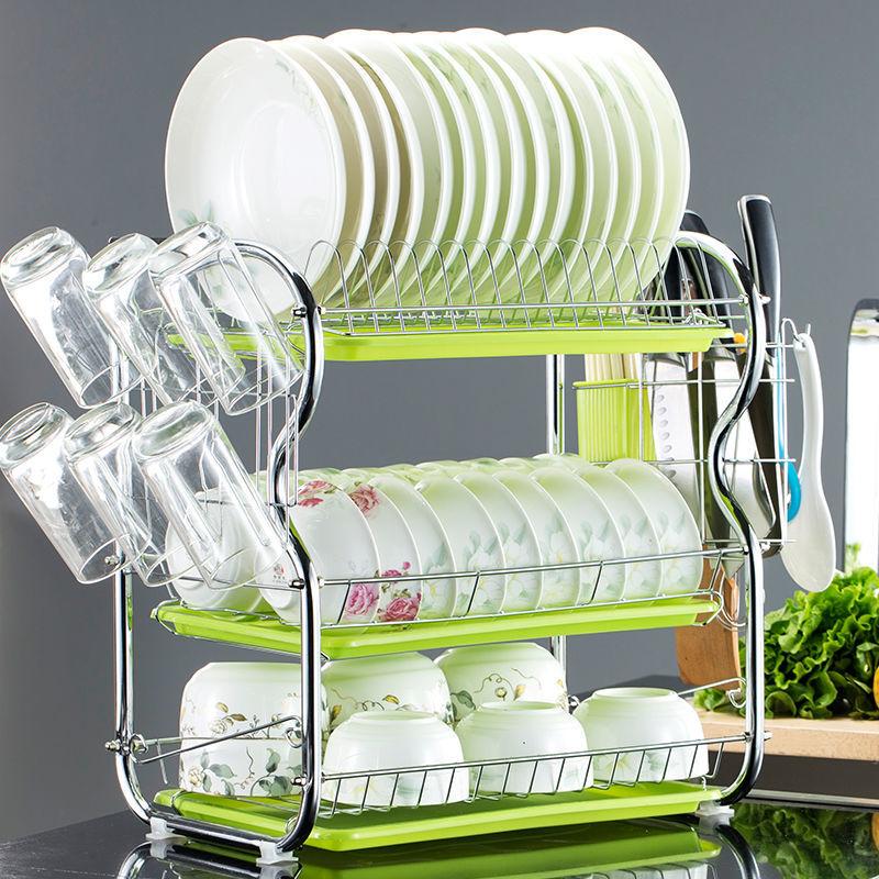 【送刀架挂钩】加厚碗架沥水架碗碟架厨房置物架滴水架收纳架碗柜