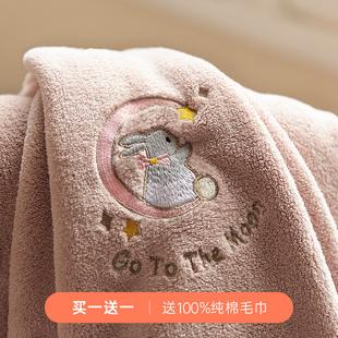 浴巾家用全棉纯棉吸水速干不掉毛男女网红大毛巾可穿裹巾ins风