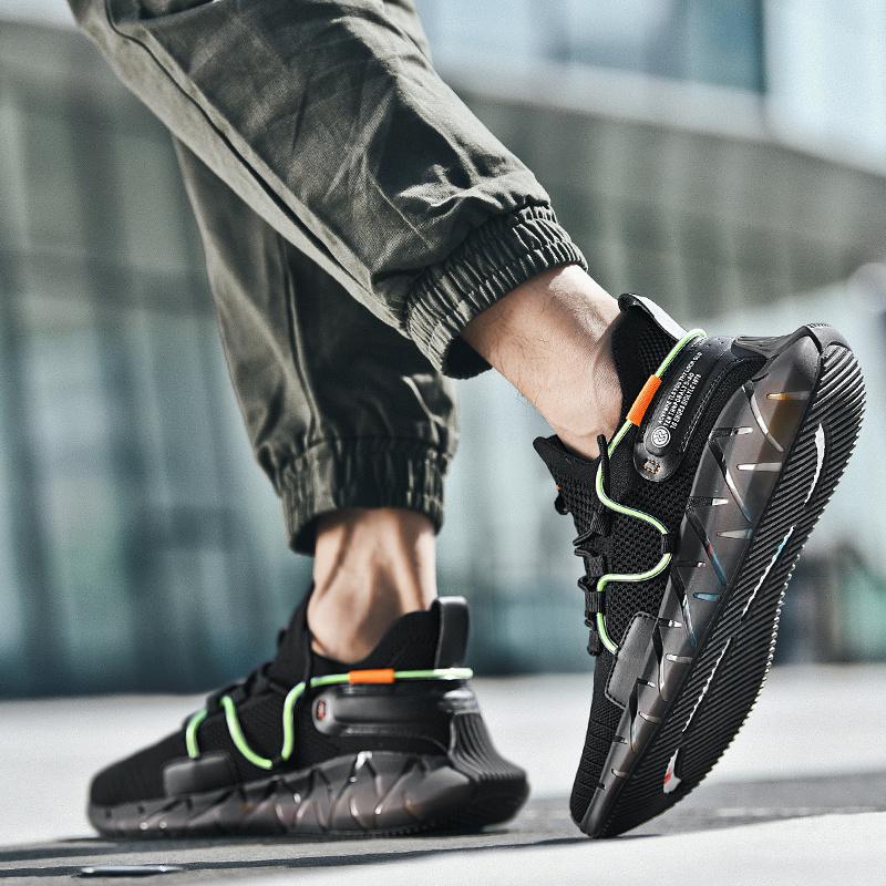 男鞋春季2020新款爆米花休闲潮鞋夏季透气薄款软底鞋子运动旅游鞋