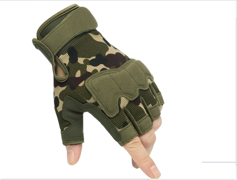 Tactical Half Finger Gloves mens and womens military camouflage special forces short finger outdoor sports motorcycle riding Fitness Gloves