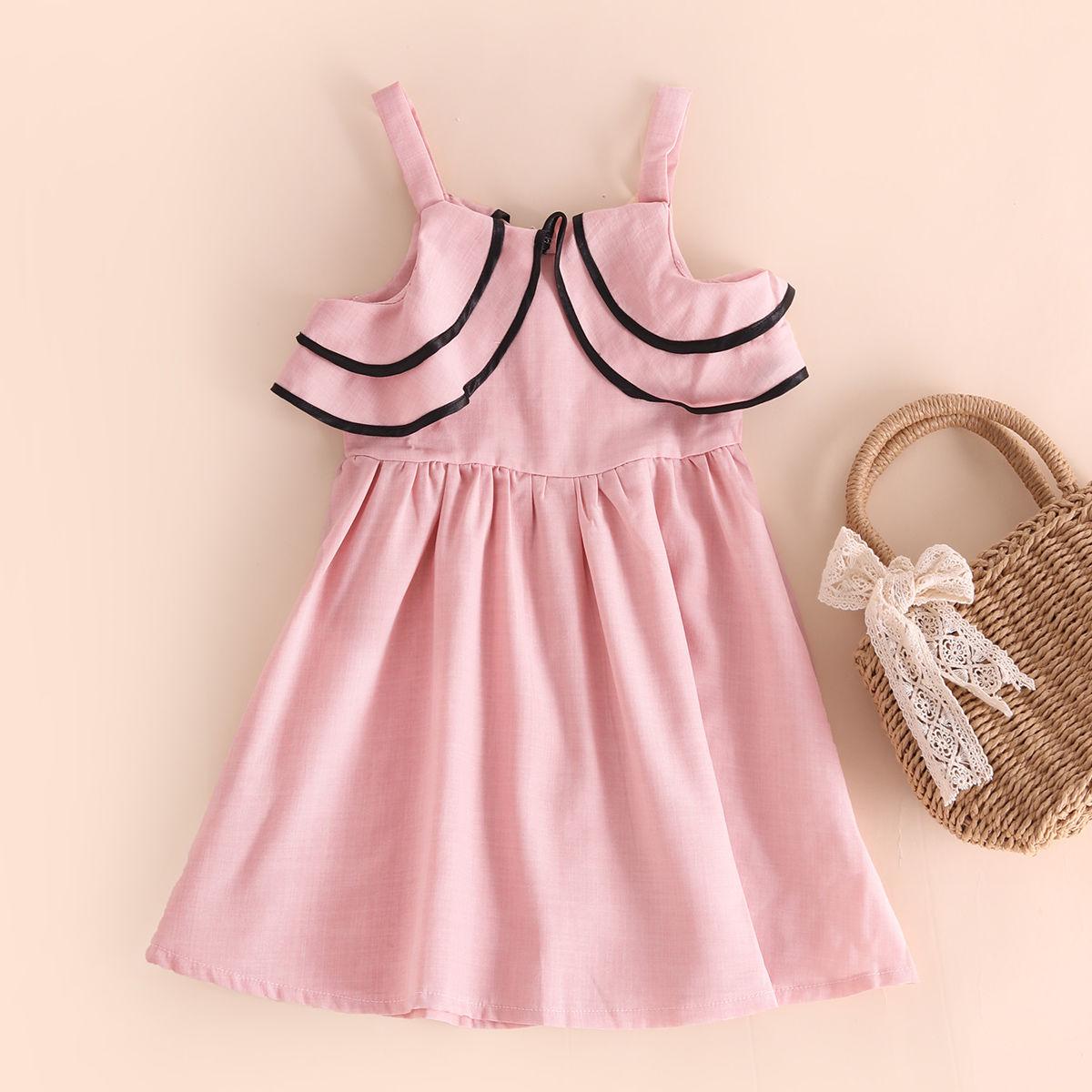 小虎帕蒂女童吊带裙夏季中小童洋气连衣裙甜美公主裙
