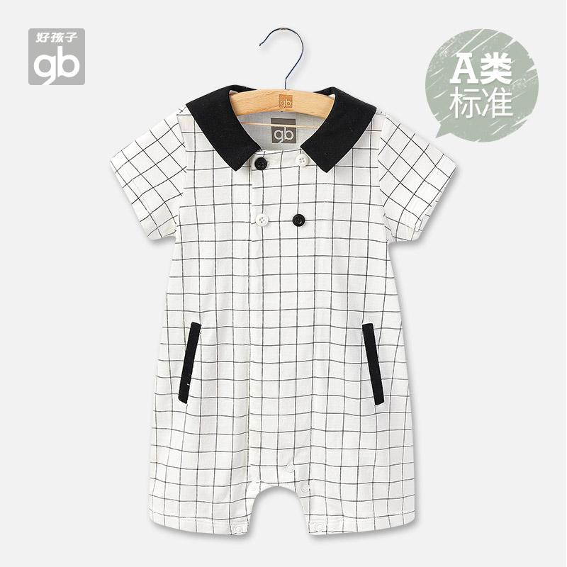 Good BABY BABY BODYSUIT pure cotton thin baby summer SHORT SLEEVE BODYSUIT mens climbing suit sleeveless