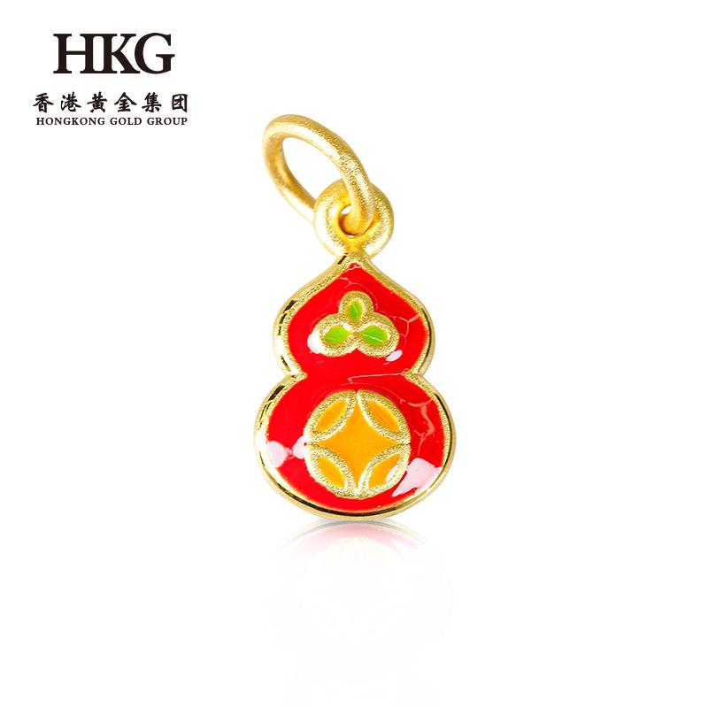 Gold lotus 3D hard gold blue gourd pendant DIY bracelet necklace womens accessories new