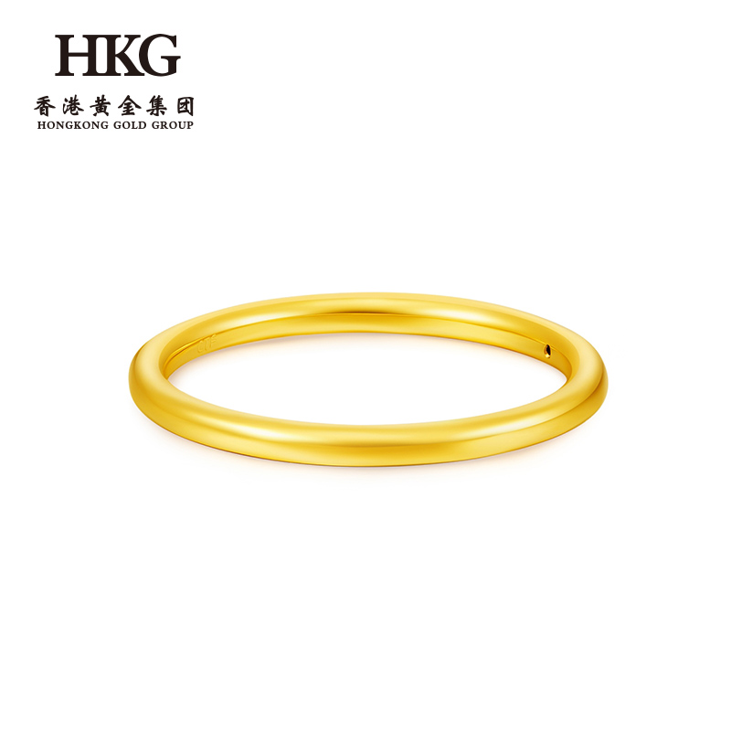 HKG (jewelry) Hong Kong Gold Group Gold plain ring full gold ring clj1001