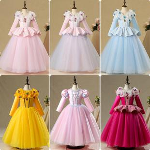 白雪公主連衣裙聖誕節兒童服裝灰姑娘蘇菲亞冰雪奇緣艾莎公主裙子