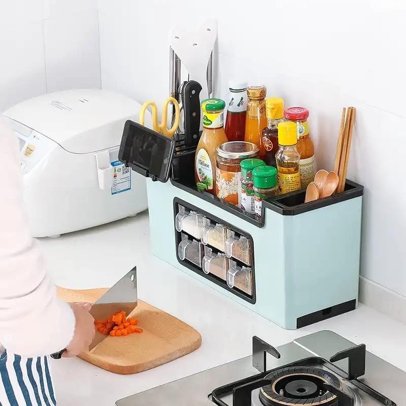 厨房收纳盒天远商贸调料置物盒多功能厨房用具厨房用品