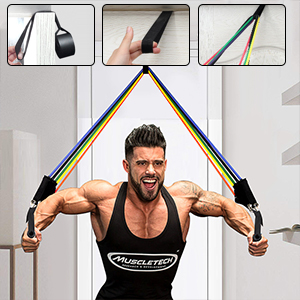 Elastic rope mens chest muscle training strength fitness equipment multi functional household elastic band female rubber band pedal stretcher