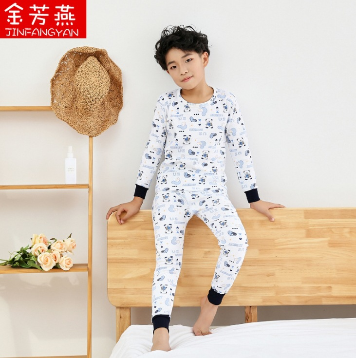 Cotton sweater full flower high and low suit pure cotton collar autumn winter swallow autumn pants children autumn clothes fragrance mens and womens gold