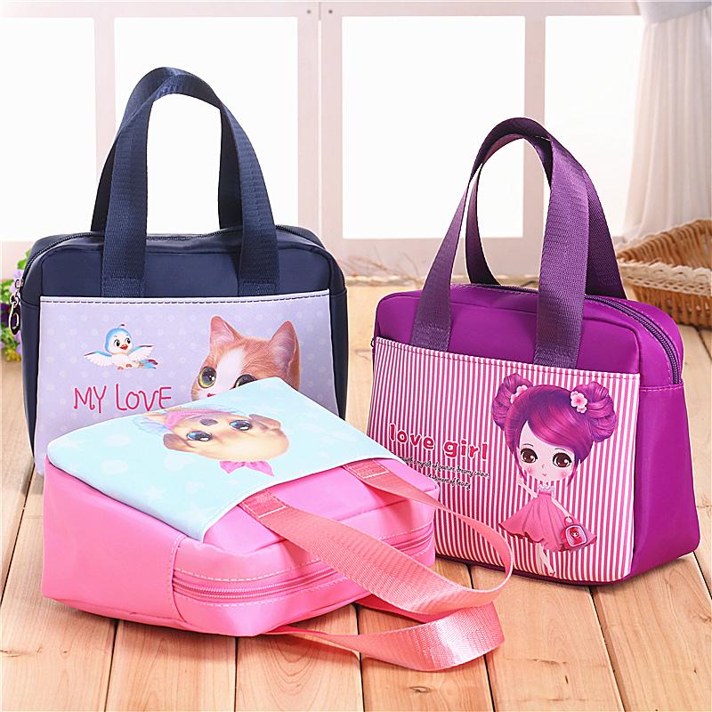 小手提包女士布包包女包包手提袋饭盒便当包韩版小拎包妈咪包迷你