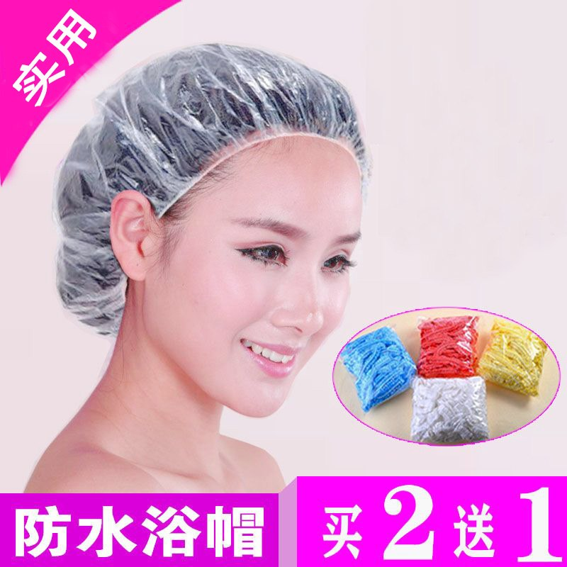 Household middle and long hair bath fashion disposable headgear plastic hair dye female hair winter girl hat female