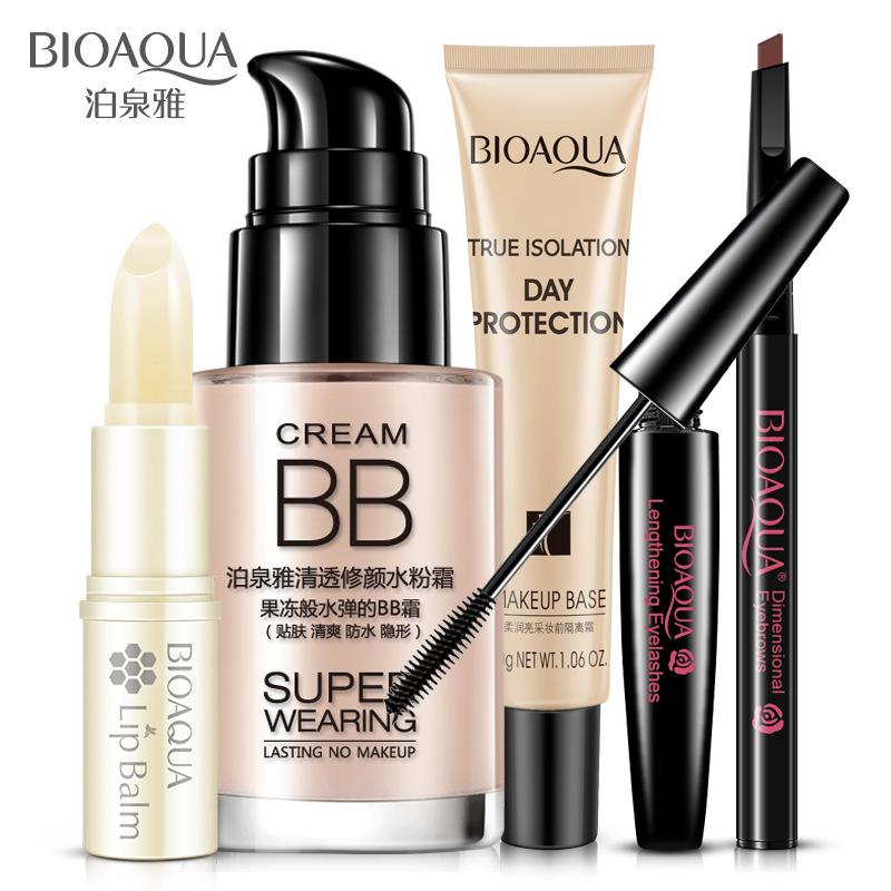 Poochuen makeup set, BB cream, nude mascara, cosmetics set, beginners.