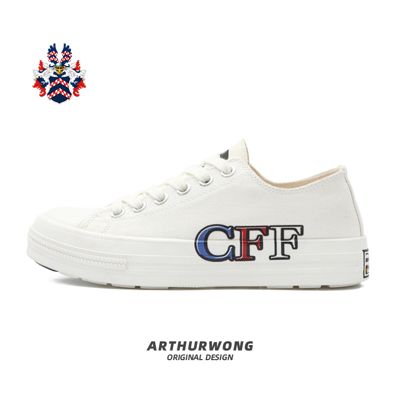 Chao brand aw-2021 spring and summer new lovers letter printing pattern [CFF] low top small white shoes