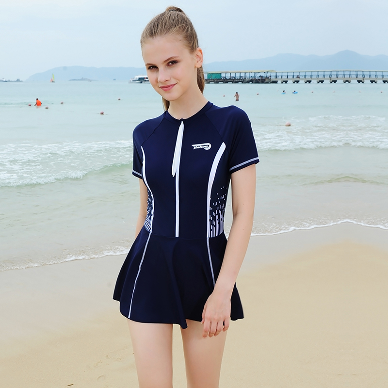 Travel, holiday, hot spring, beach, personality, fashion, new skirt style one-piece casual swimsuit, conservative, large and comfortable