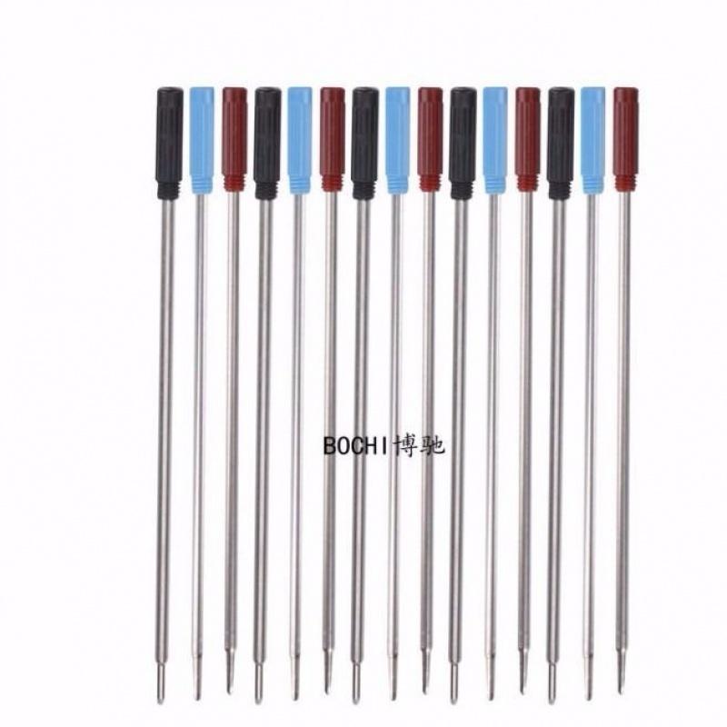 中國代購 中國批發-ibuy99 圆珠笔 包邮10支金属圆珠笔芯 旋转铁笔替芯不锈钢笔芯 油笔芯黑蓝色