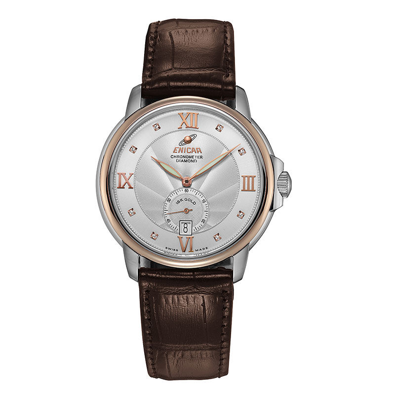 [80th anniversary] original 18K mechanical gold watch imported by enicar, Switzerland