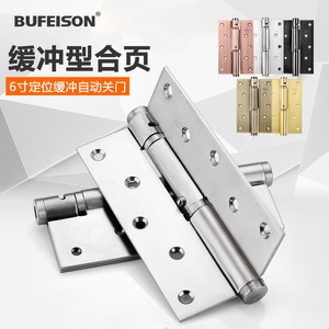 Color : Right Opening Invisible Door Hinge Hydraulic Buffer Silent Non-Slotting Silver Aluminum Steel Wooden Door Automatic Closing Hinge