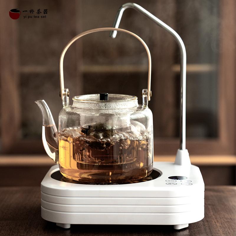 玻璃水壶养身壶家用电陶炉煮茶套装烧水一体底部上水电炉子泡茶壶