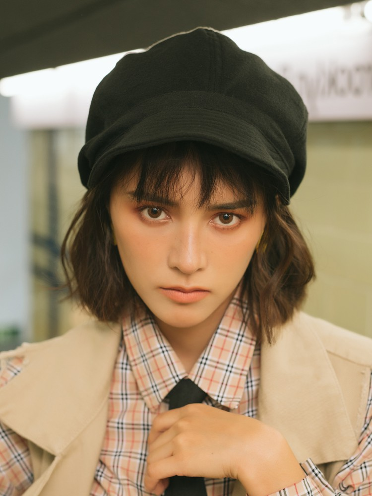 Japanese buy face repair Japanese pure wool soft eaves newspaper childrens hats in autumn and winter thicken all kinds of octagonal hats retro paintings
