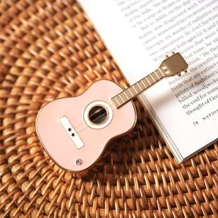 八門蟲社MINI吉他合金音樂盒八音盒創意男女生情人節禮物粉紅藍色