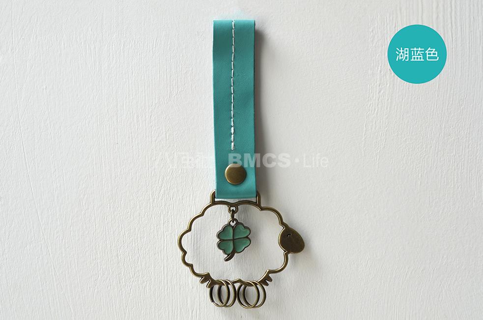 八门虫社皮绳汽车钥匙扣圈链挂件韩国可爱女卡通男创意礼物特惠(用2元券)