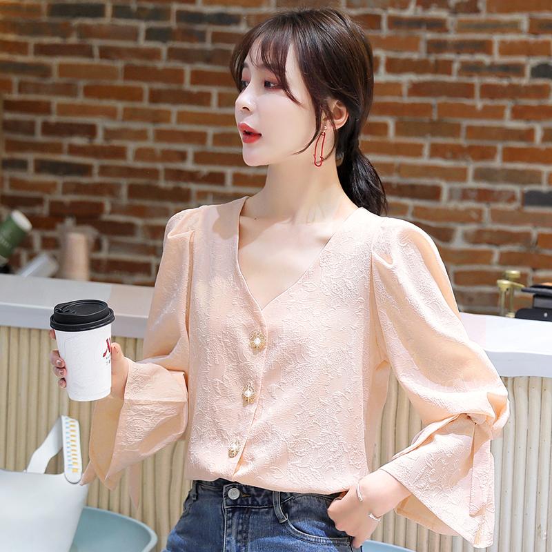 2020早秋新款长袖雪纺衬衫女秋季韩版潮流时尚气质女人味洋气上衣