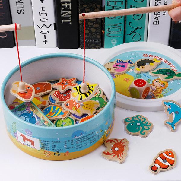 钓鱼玩具幼儿童磁性1-2岁3男女孩一岁半宝宝早教益智力多功能动脑 - 封面