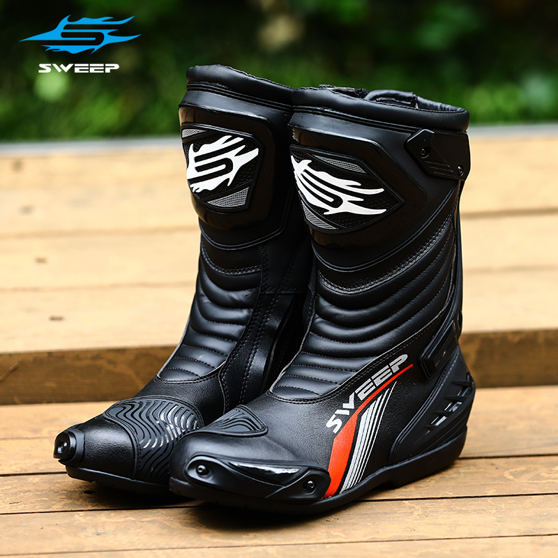 Sweep Motorcycle Riding Boots Mens competitive anti slip protection road cross country anti fall race motorcycle shoes gp17evo