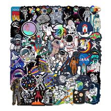 50张宇航员航天站卡通贴纸头盔月球火箭宇宙拉杆箱笔记本涂鸦贴纸