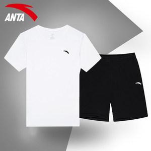 安踏运动套装男装2020夏季新款速干短袖短裤篮球服两件套官网旗舰
