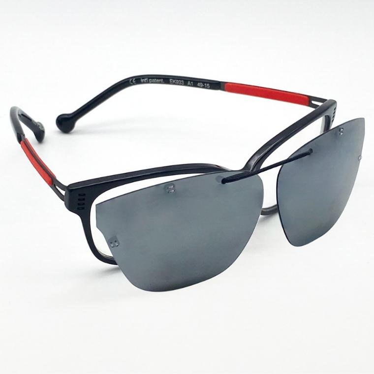 近视眼镜墨镜专为近视儿童设计防紫外线超轻偏光太阳镜长方形