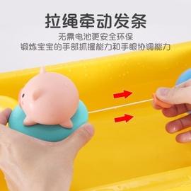 宝宝洗澡玩具儿童戏水小猪婴儿沐浴游泳玩具男孩女孩抖音同款飞鱼