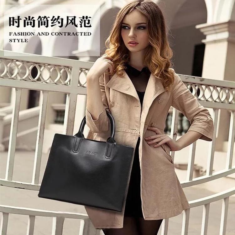 Briefcase female professional handbag information bag A4 file bag leisure business commuting large capacity Single Shoulder Messenger Bag