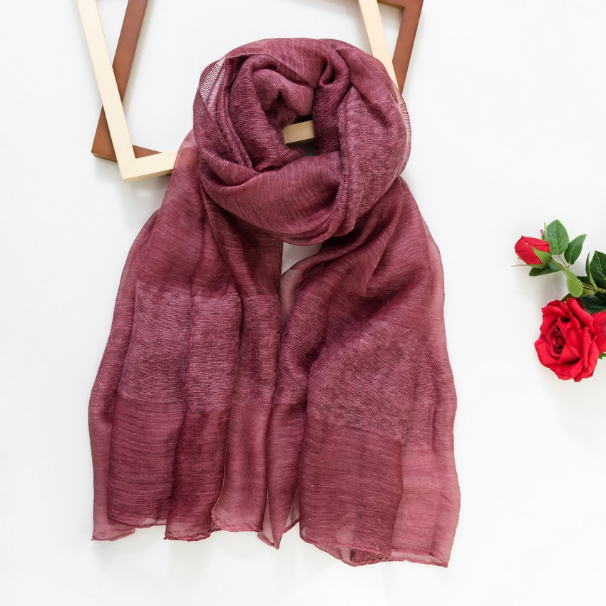 DC buta spring and autumn womens pure color wool scarf Korean version