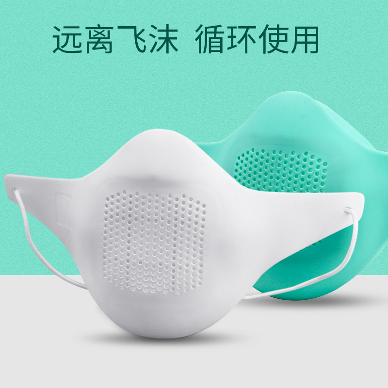 Kn95 silica gel dustproof and breathable protective mask non disposable breathable reusable industrial mask