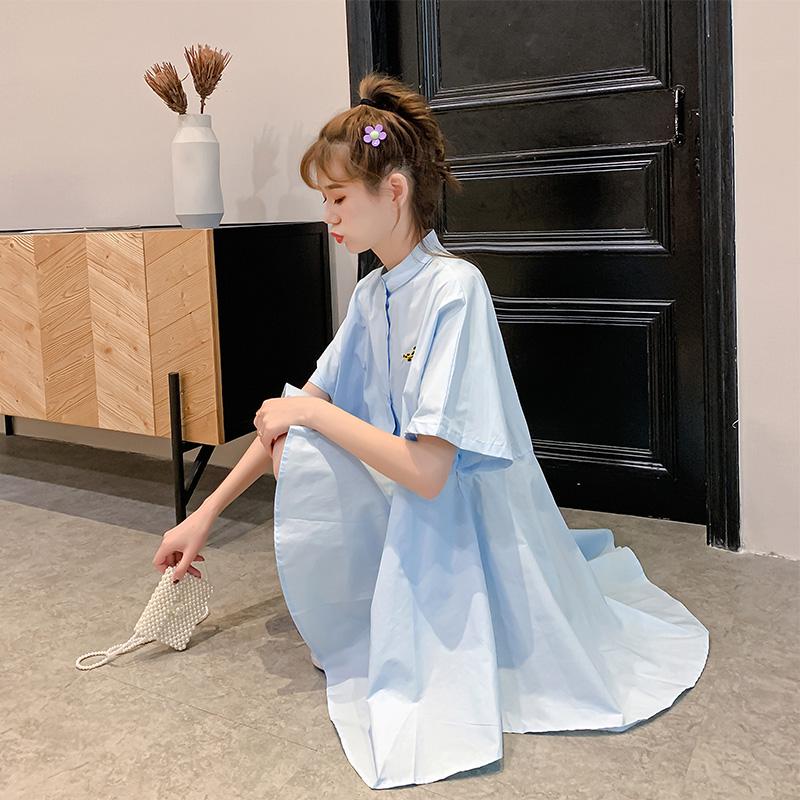 很仙的法国小众白色立领女仙连衣裙满155.00元可用76元优惠券