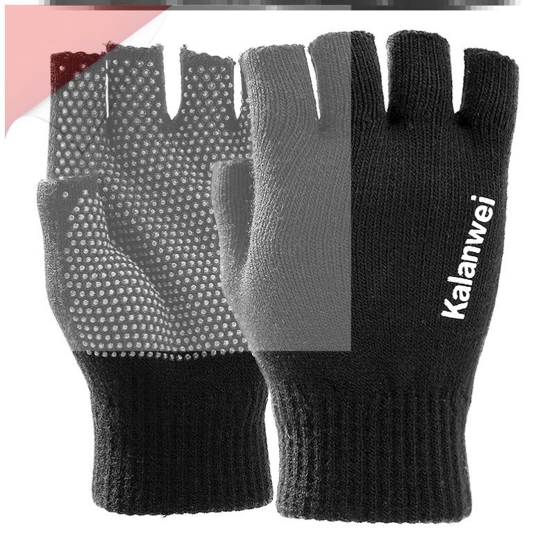 Sweet rabbit fur warm gloves dishwashing finger iron anti static rubber splicing work seamless down cotton