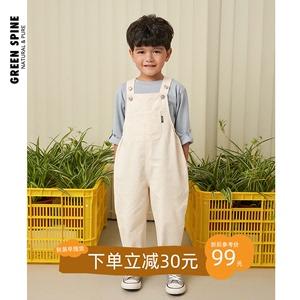 greenspine儿童背带裤套装2020新款夏薄款男女童裤子洋气韩版宽松