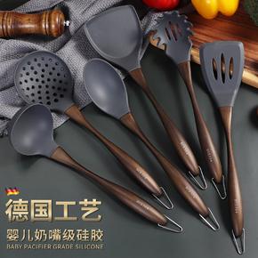 莱均柯硅胶铲家用不粘锅专用不伤锅耐高温汤勺厨具套装锅铲子炒菜