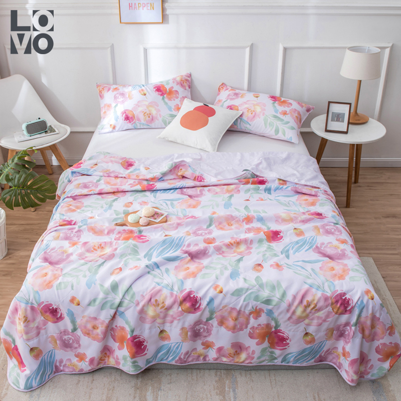 Lovo Lecuo home textile bedding summer cool silk quilt special price air conditioning quilt special price single double quilt core