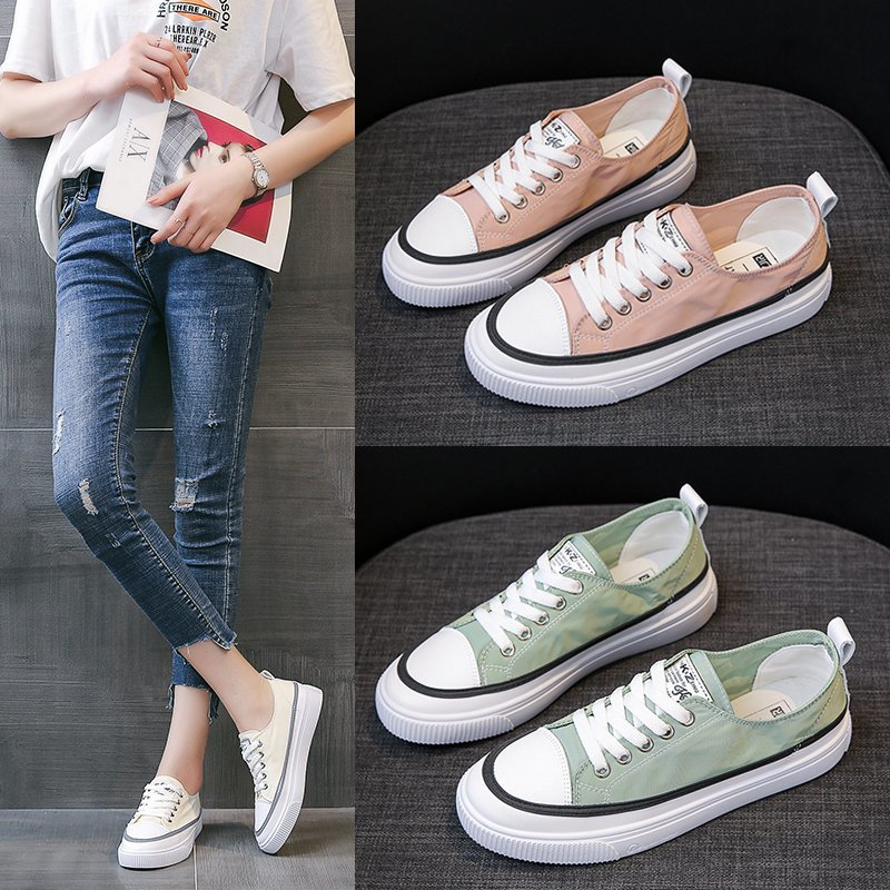 Womens canvas shoes 2020 new summer ulzzang low top versatile student Korean summer thin fashion shoes ins