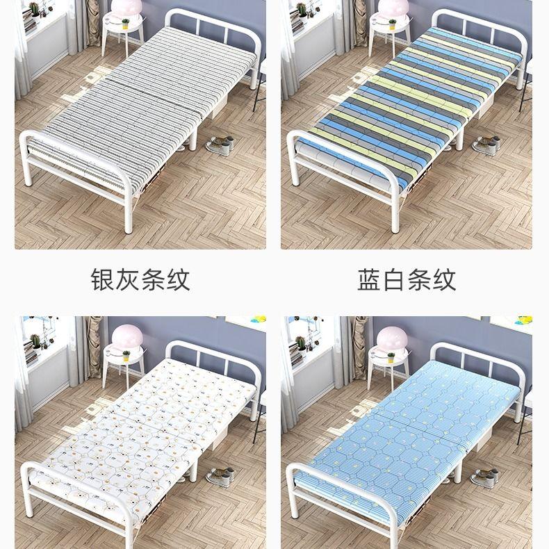 {住宅家具}加固加厚折叠床单人床简易床铁床家用双人床儿童床铺