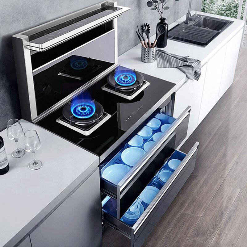 电嵌入式集成灶蒸烤箱烟灶家用洗碗机一体灶环保灶十大品牌排名