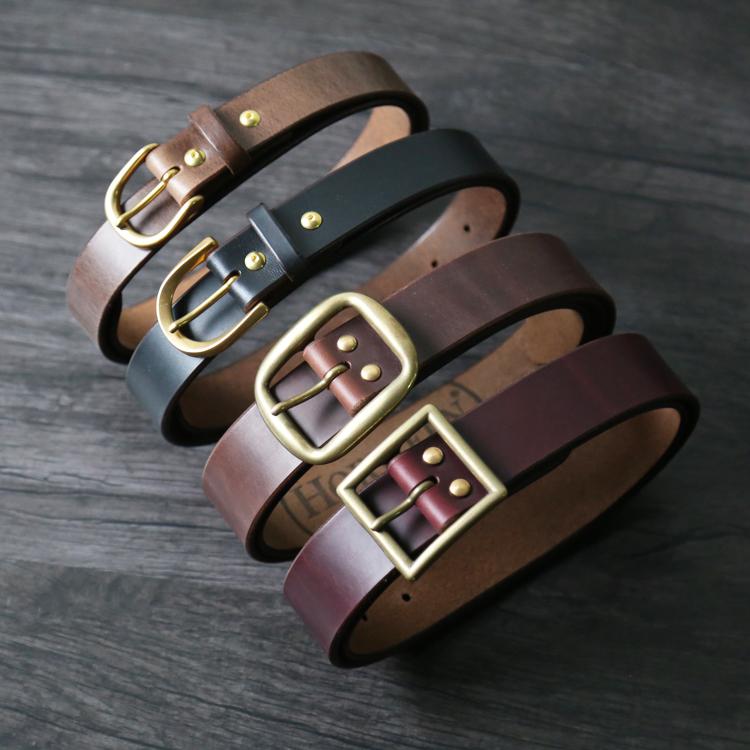 高配版Horween手工腰带日产扣头美国进口CXL皮带复古咔叽仙人手造