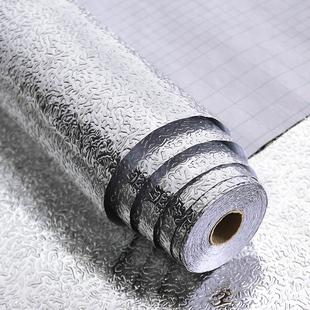 加厚自粘厨房防油贴纸防水耐高温灶台用橱柜油烟机铝箔纸壁纸墙贴